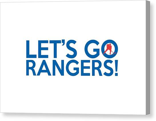 New York Rangers Canvas Print - Let's Go Rangers by Florian Rodarte