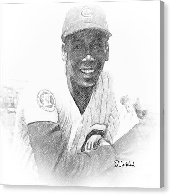 Ernie Banks Canvas Print