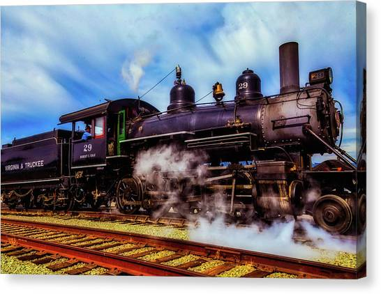 Steam Trains Canvas Print - Letting Off Steam by Garry Gay