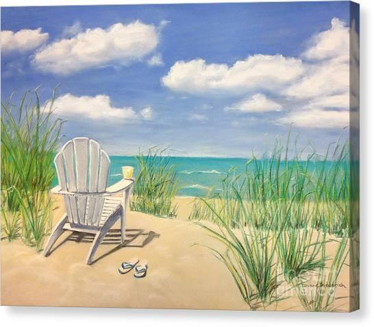 Adirondack Chair Canvas Print - Life Is A Beach by Diane Diederich