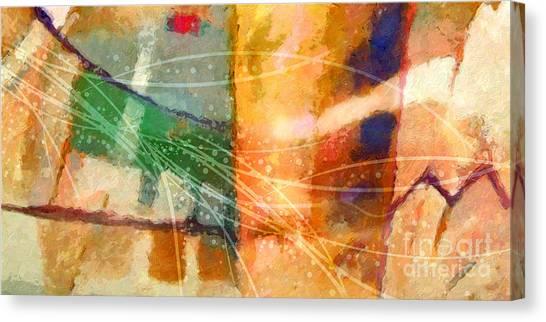 Abstract Digital Canvas Print - Lifelines by Lutz Baar