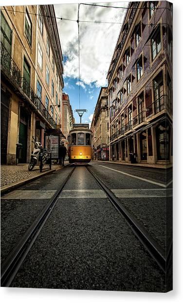Light Rail Canvas Print - Light by Jorge Maia