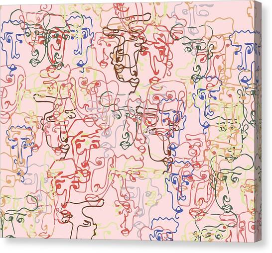 line faces I Canvas Print