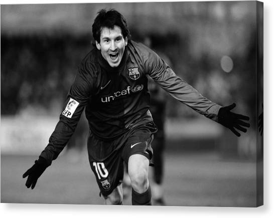 Lionel Messi Canvas Print - Lionel Messi 1 by Rafa Rivas