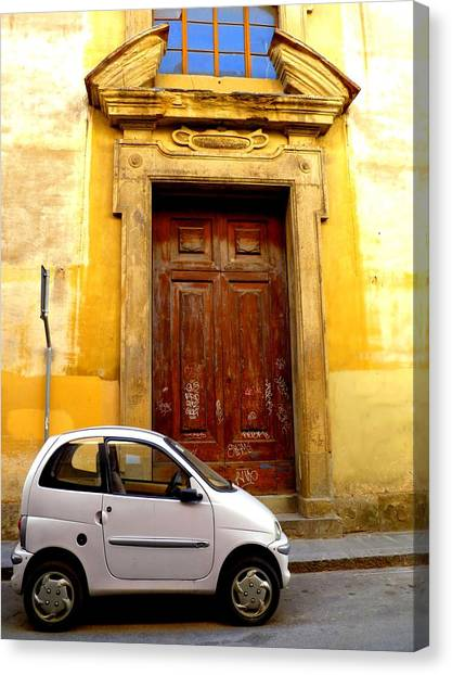 Little Car Of Florence Canvas Print by Jen White