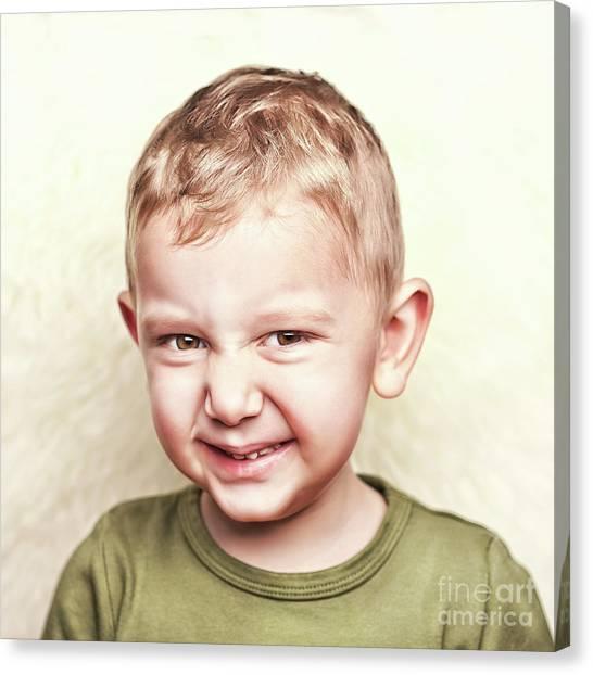 Little Child Portrait Canvas Print by Gualtiero Boffi