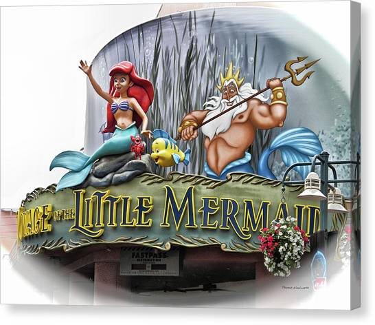 Prince Canvas Print - Little Mermaid Signage Mp by Thomas Woolworth