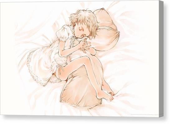 Romanesque Art Canvas Print - Littlewitch Romanesque by Super Lovely