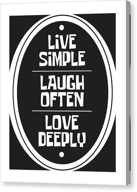 Simple Canvas Print - Live Love Laugh by Studio Grafiikka