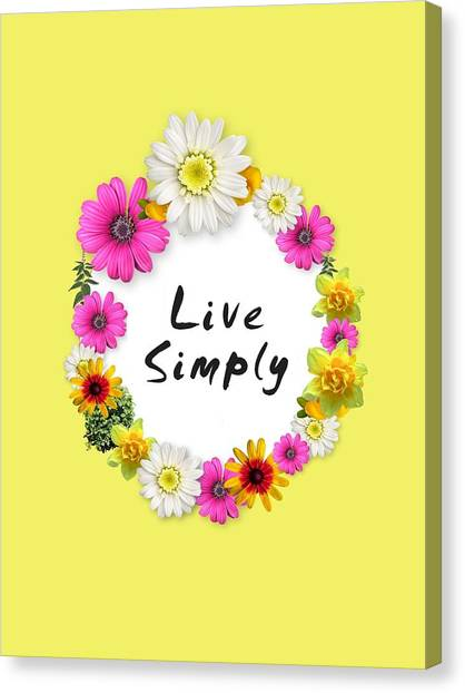 Wreath Canvas Print - Live Simply by Annie Walczyk