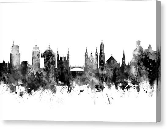 Ljubljana Canvas Print - Ljubljana Solvenia Skyline by Michael Tompsett