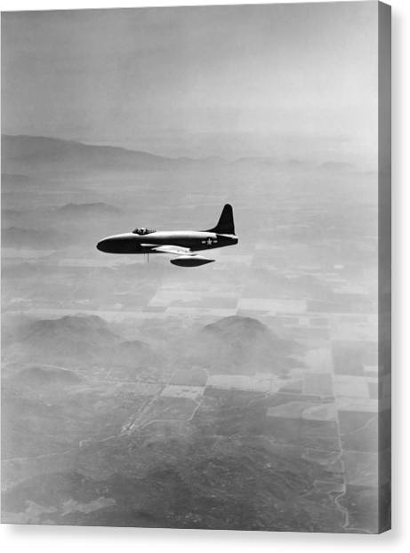 Shooting Stars Canvas Print - Lockheed P-80 Shooting Star by Underwood Archives