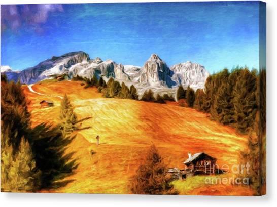 Log Cabin Canvas Print - Log Cabin Home By Sarah Kirk by Sarah Kirk
