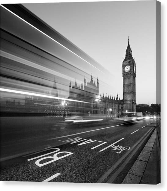 Monument Canvas Print - London Big Ben by Nina Papiorek