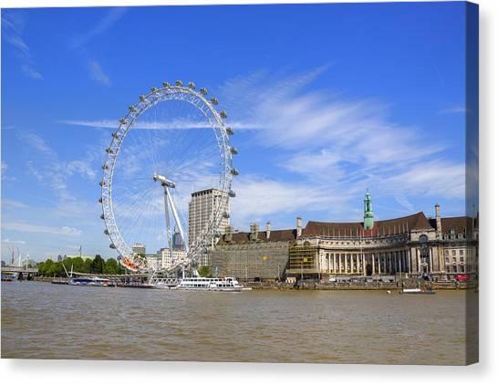 London Eye Canvas Print - London Eye by Joana Kruse