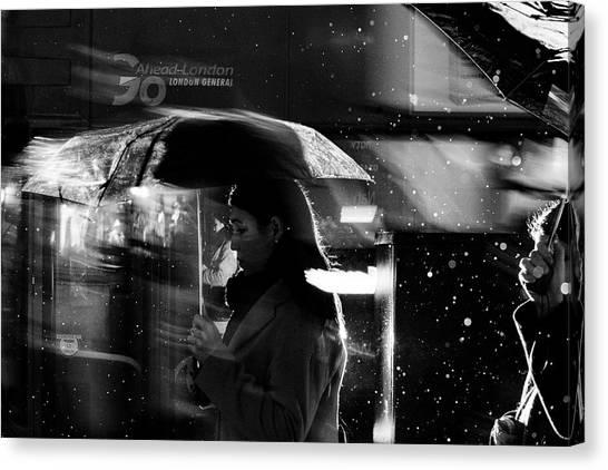 London Rain IIi Canvas Print by Wayne La