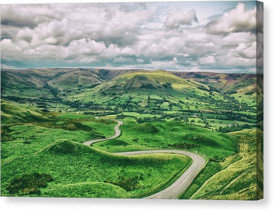 Peak District Canvas Print - Long And Winding Road by Martin Newman