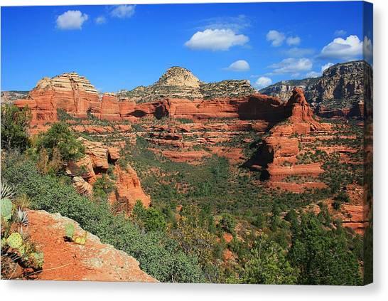 Long Canyon Morning Canvas Print