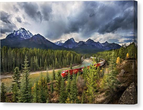 Long Train Running Canvas Print