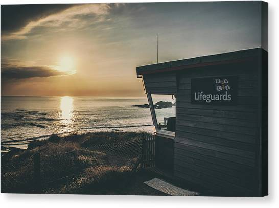 Lifeguard Canvas Print - Look Out by Martin Newman