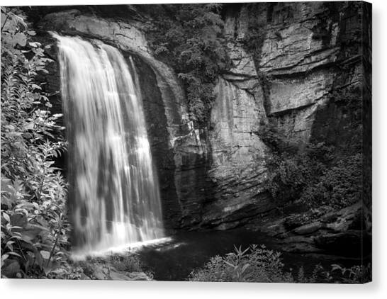 Canvas Print featuring the photograph Looking Glass Falls by Howard Salmon