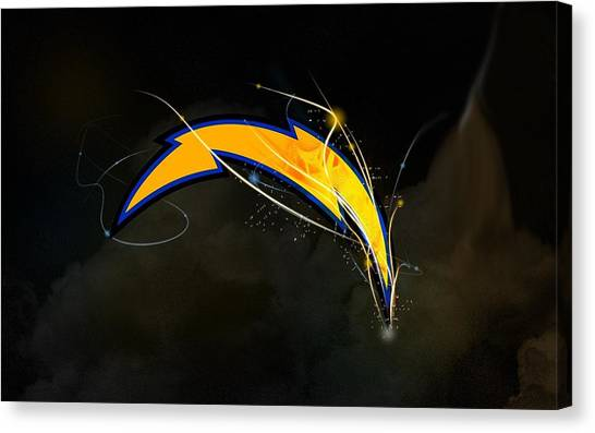 Los Angeles Chargers Canvas Print - Los Angeles Chargers by Alice Kent