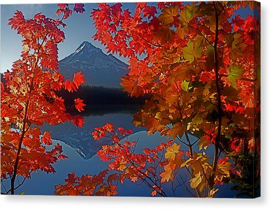Lost Lake Autumn Canvas Print