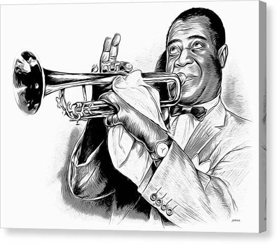 Trumpets Canvas Print - Louis Armstrong by Greg Joens