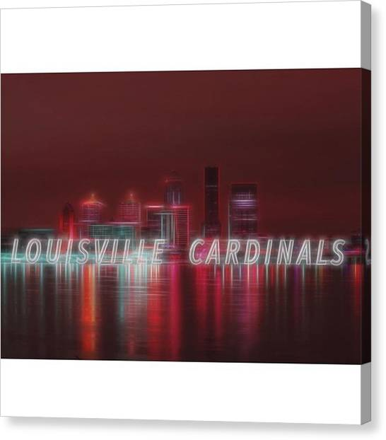Baseball Canvas Print - #louisville #cardinals by David Haskett II