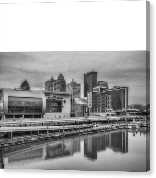 Bat Canvas Print - #louisville #kentucky #kentuckiana by David Haskett