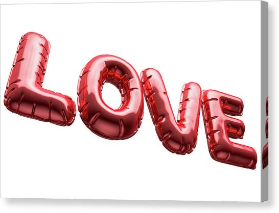 Inflatable Canvas Print - Love Inflatable Balloons by Allan Swart