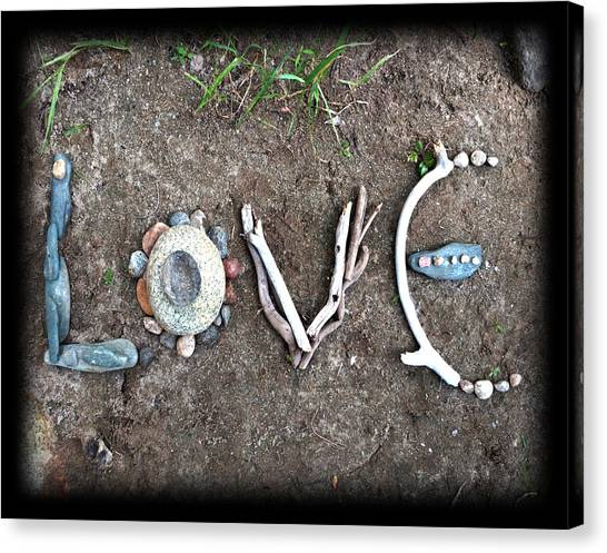 Using The River Canvas Print - Love by Tanielle Childers