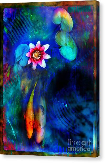 Lily Pond Canvas Print - Lovers by Gina Signore