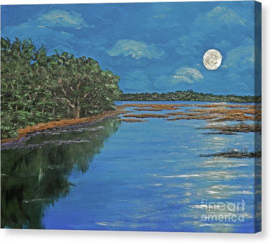 Lowcountry Moon Canvas Print