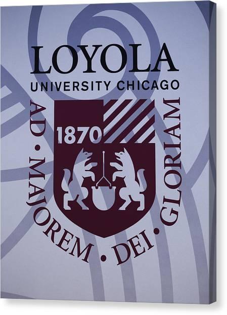 Mvc Canvas Print - Loyola University Chicago by Greg Thiemeyer