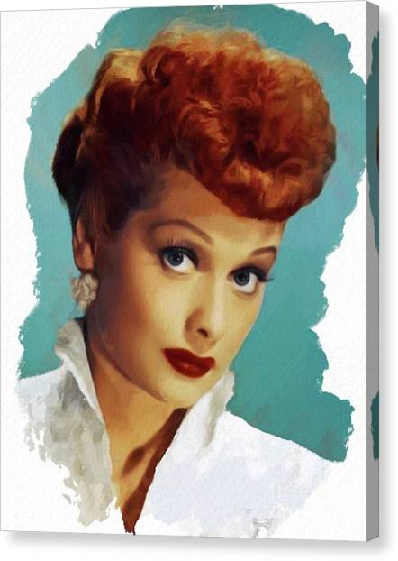 Stardom Canvas Print - Lucille Ball, Actress by Mary Bassett