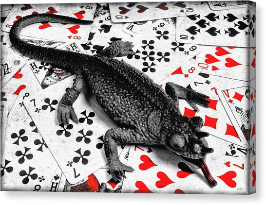 Salamanders Canvas Print - Lucky  by Jeff  Gettis