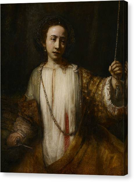 Rembrandt Canvas Print - Lucretia  by Rembrandt