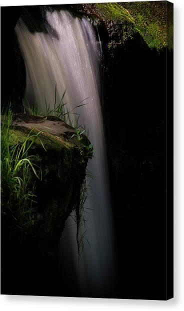 Canvas Print featuring the photograph Lynn Mill Waterfalls by Jeremy Lavender Photography
