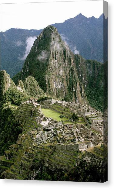 Machu Picchu At Sunrise Canvas Print