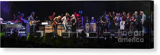 Leon Russell Canvas Print - Mad Dogs And Englishmen Tribute To Joe Cocker Featuring Tedeschi T by David Oppenheimer
