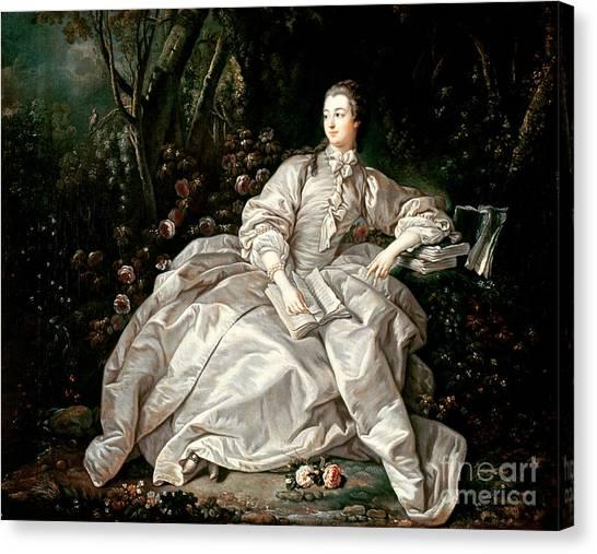 Boucher Canvas Print - Madame De Pompadour by Francois Boucher