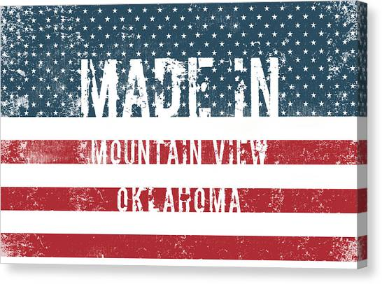 Ok Canvas Print - Made In Mountain View, Oklahoma by Tinto Designs
