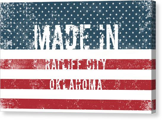 Ok Canvas Print - Made In Ratliff City, Oklahoma by Tinto Designs