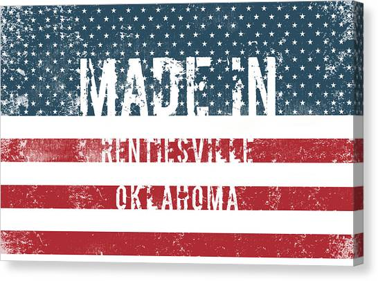 Ok Canvas Print - Made In Rentiesville, Oklahoma by Tinto Designs