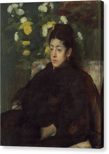 Edgar Degas Canvas Print - Mademoiselle Malo by Edgar Degas