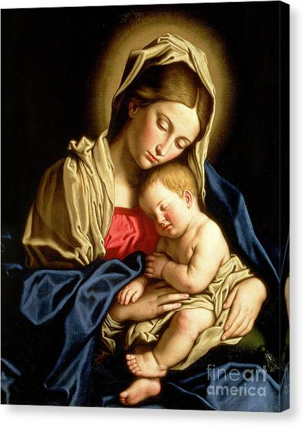 Religious Canvas Print - Madonna And Child by Il Sassoferrato