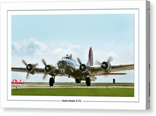 United States Army Air Corps Canvas Print - Madras Maiden B-17  by Peter Chilelli