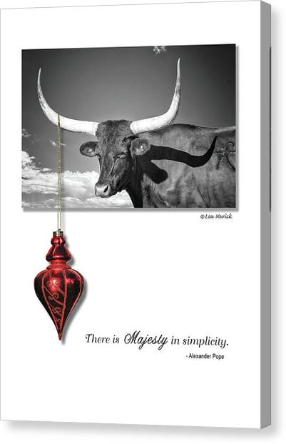 Canvas Print featuring the photograph Majesty In Simplicity by Lou Novick