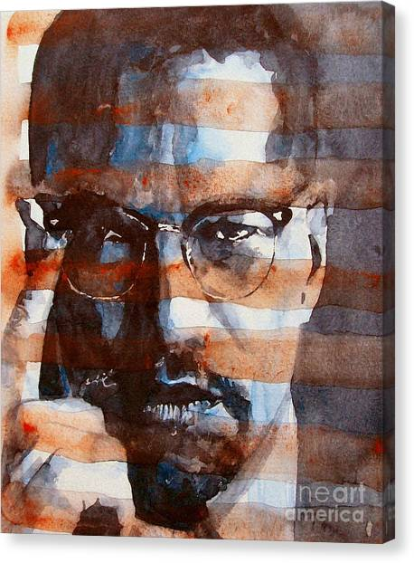Rights Canvas Print - Malcolmx by Paul Lovering